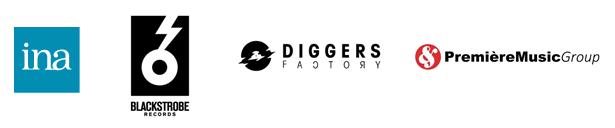 Les partenaires du projet : INA, Blackstrobe Records, Diggers Factory et Premiere Music Group
